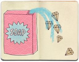 Soap diamonds by gommedefraise