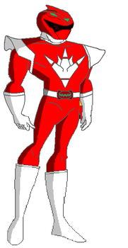 Red Tyranno Dino Thunder Ranger by stewie166