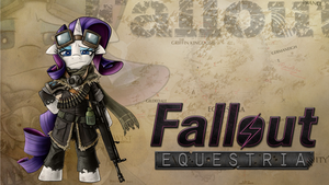 Fallout Equestria Rarity Wallpaper by XMiradoX