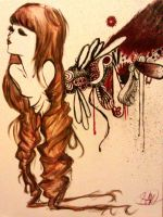 Long Hair Repro. Painting by Numzie