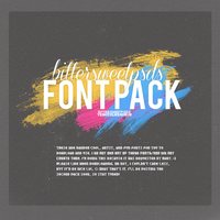 Fonts Pack - 01 by yeahitslikeadrug