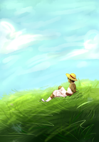 a pirate on a hill by ViperaGlacialis