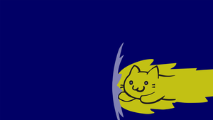 Speedy Cat Simple vector Background by ashthenyan