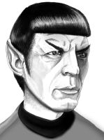 .........Some Spock Loving. by Crow-Dreamer