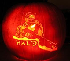 Halo Pumpkin by WispyChipmunk