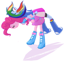 PinkiePie x RainbowDash by siemensohm