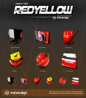 kidaubis_redyellow_3d icon by kidaubis