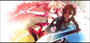 Sword Art Online - Asuna and Kirito Signatur by eaZyHD