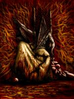 Pyramid Head Throne 2nd Sight by Lucius-Ferguson