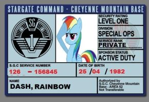 RAINBOW DASH SGC ID by spyrouk