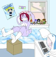 nekki bunneh on the bed by yume