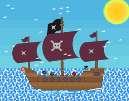 Pirate ship by KururuRyu