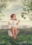 Girl on Swing by mary-petroff