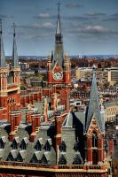 St Pancras Clock Tower by daliscar