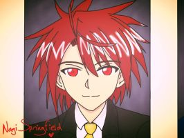 .:The Highschool Dropout:. (Nagi's Yearbook Pic) by The-Thousand-Master