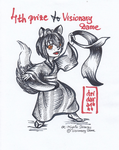 4th prize to VisionaryDame (scanned) by deidara1444