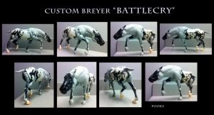 Custom Breyer Battlecry WIP 3 by pookyhorse