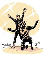 Goldust and Stardust by JonDavidGuerra