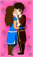 Zutara_The EPIC kiss by chachi411