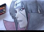 Itachi Uchiha - [Traditional Art] by haithamali1985