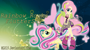 Rainbow Rocks WP FlutterShy by MLR19