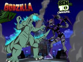 GODZILLA VS  WAYBAD by mayozilla