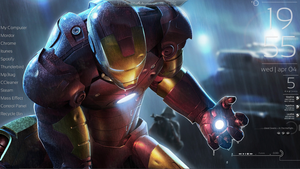 Iron Man Rainmeter Desktop by HobNobRob