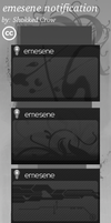 emesene notification - pack2 by Shokked-crow