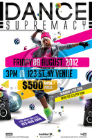Dance Supremacy / Dance Battle Flyer Template by koza30