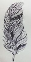 Tribal/Aztec Feather by Miilo18