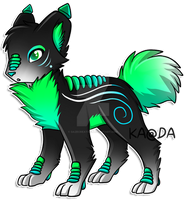 Glow Hound: Xiona by Kuro-Creations