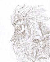 Garuda Sketch 2 by FreeTheCows