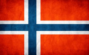 Norway Grunge Flag by think0