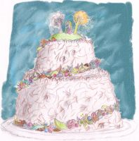 Wedding Cake for Finrod and Amarie by Gwenniel
