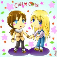Chibi CliffxClaire by christon-clivef