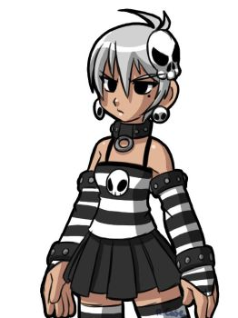 Random goth girl doodle by rongs1234