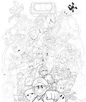 Brawl Line Art 2.0 by mivion