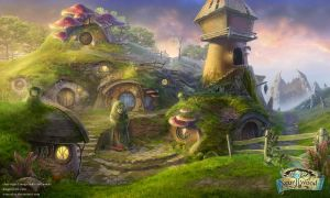 Gnome_village_scene by IrisErelar