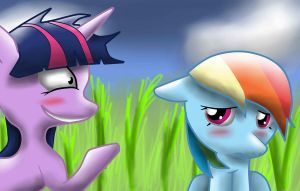 Twilight Confronts Rainbow by Penguin-Potential