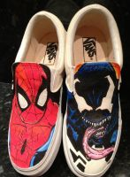 Spiderman Vs Venom Vans by VeryBadThing