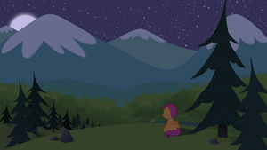 Scootaloo's Alpine Night by BonesWolbach