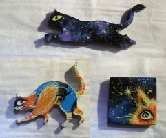Cats~ fridge magnet 2 by Nadia-Lee-Nyan