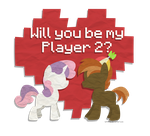 Valentines- Sweetie Belle and Button Mash by Left2Fail