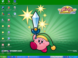 Sword Kirby in my desktop by murumokirby360