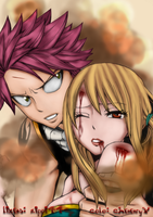 Fairy tail: Natsu and Lucy by cheeryY