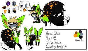 Fursona Reference - Chez - 2012 by CH3CK3RED-R3TR0