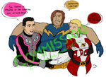Commission - Rokk, Garth, Imra [Jude Deluca BC-HB] by Empty-Brooke