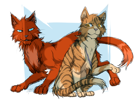 Warriors : Leafstar and Sharpclaw by Marshcold
