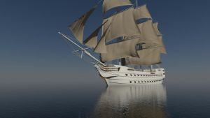 Sailing ship WIP 2 by forgedOrder