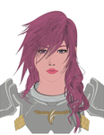 FFXIII-2 Lightning Portrait 2 simple color by Drekrief
